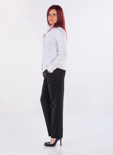 B23 Tebe CT pantaloni a sigaretta in gabardina inverno tasche con zip