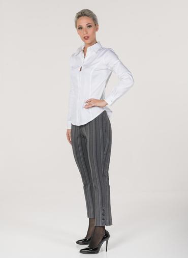 H18 Oslo pantaloni in maglia fantasia vita alta