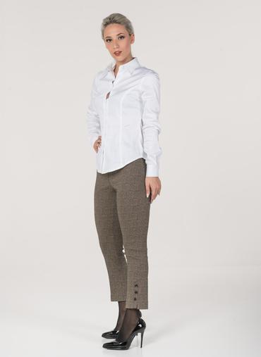 H81 Zara pantaloni in bengalina stretch fantasia vita alta
