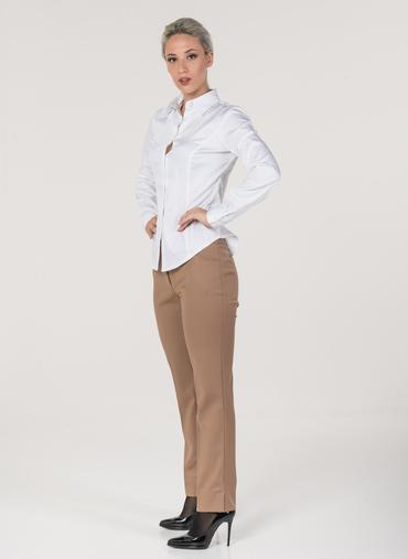 L27 Pola pantaloni a sigaretta in flanella