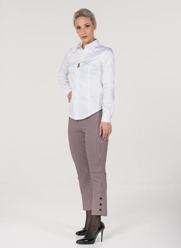 L46 Zara pantaloni in bengalina stretch fantasia vita alta