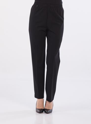 S53 Luxor pantaloni a sigaretta in punto milano fascia in vita elasticizzata