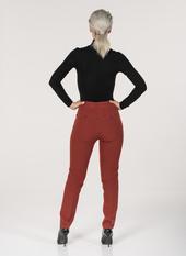H06 New York pantaloni a sigaretta in cadì chiusura con zip bottone e gancio