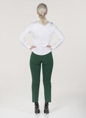 L60 Monaco pantaloni in maglia crepe vita alta