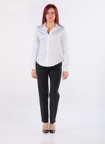 G07 Lazise pantaloni a sigaretta in gabardina inverno chiusura con zip e bottone