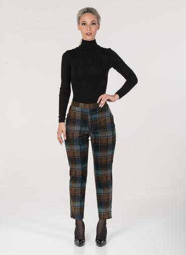 H31 Mosca trousers in patterned Milano stitch high-rise waist