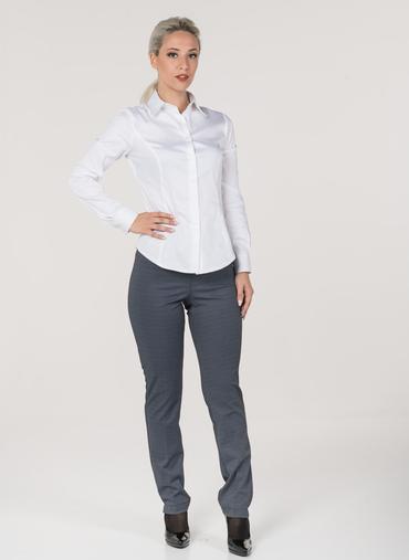 H47 Berna pantaloni in maglia fantasia fascia in vita elasticizzata vita alta