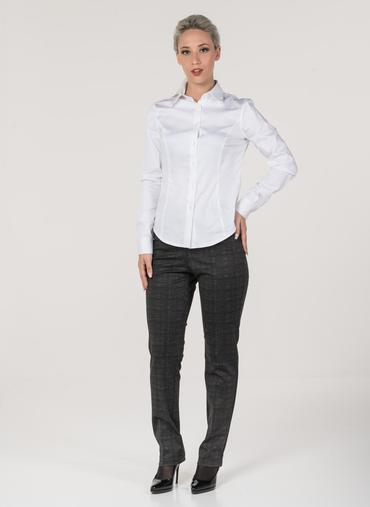 H51 Berna pantaloni in punto milano fantasia fascia in vita elasticizzata vita alta