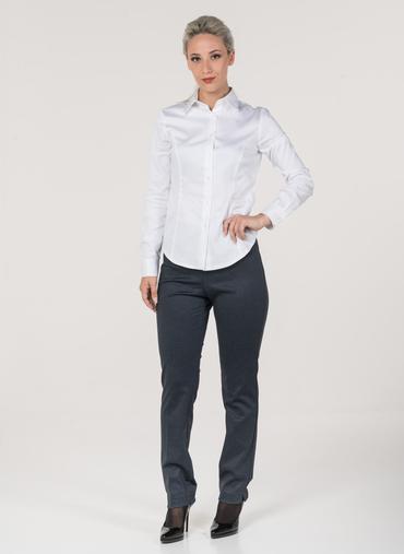 H55 Berna pantaloni in punto milano fantasia fascia in vita elasticizzata vita alta