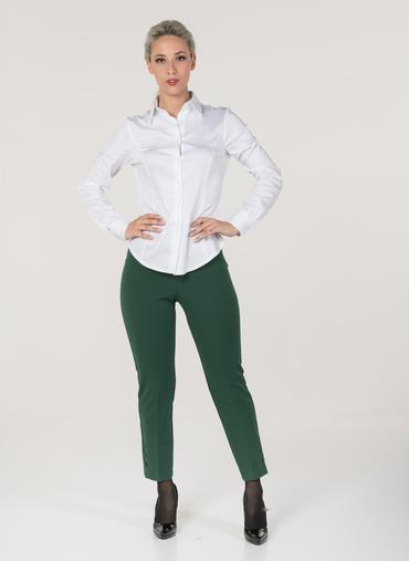 L60 Monaco trousers in crepe knit high-rise waist