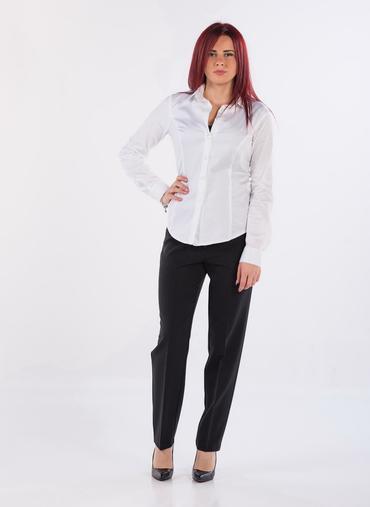 S57 Luxor pantaloni conformati a sigaretta in gabardina inverno fascia in vita elasticizzata