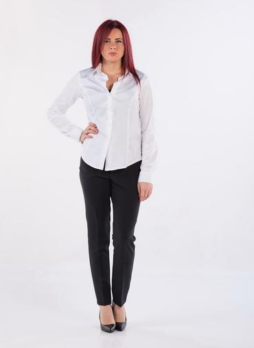 X01 New York pantaloni a sigaretta in gabardina inverno chiusura con zip bottone e gancio